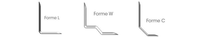 Formes équerres BT