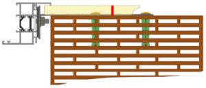 Coupe Menuiserie brique monomur