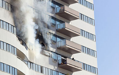 Incendie immeuble