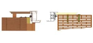 Coupe ossature bois et brique monomur