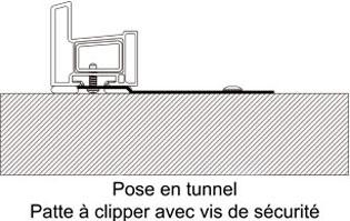 Patte à clipper pose en tunnel