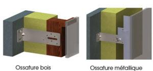 Fixation verticale bardage bois et métallique
